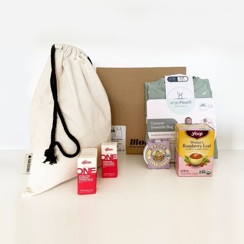 Each bag comes with a personalised set of products for the parent, and the child.