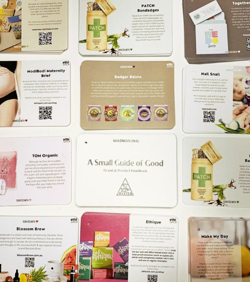 Product cards are created for each business we feature